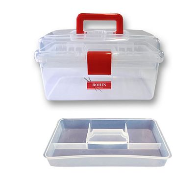 Brewer Sewing Clear Plastic Sewing Box Medium