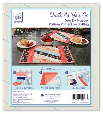 Brewer Sewing - Jakarta - Quilt As You Go Placemats (6) : brewer sewing and quilting - Adamdwight.com