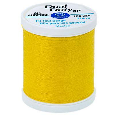 Coats Dual Duty XP General Purpose Thread 125yd-Bright Sun Yellow S900-9272