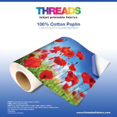 photo about Printable Fabric Roll known as Brewer Sewing - Cotton Poplin 4oz Inkjet Material 13\