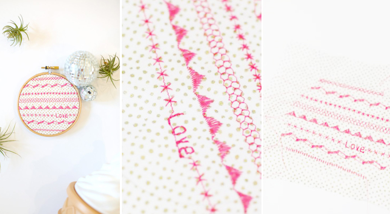 Lovely Indeed DIY Faux-Embroidered Wall Art