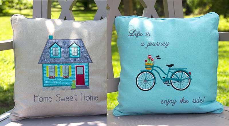 Easy As 1-2-3 Pillows makes personalizing and decorating your pillows magically simple!